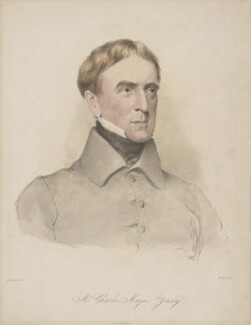 Charles Mayne Young, by Maxim Gauci, printed by  Graf & Soret, after  Eden Upton Eddis, 1824-1854 - NPG D36267 - © National Portrait Gallery, London
