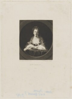 Anne Irwin (née Barry), by Samuel William Reynolds, or by  Samuel William Reynolds Jr, after  Sir Joshua Reynolds - NPG D36458