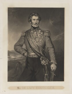 Sir George de Lacy Evans, by George Zobel, published by  Paul and Dominic Colnaghi & Co, after  Richard Buckner - NPG D36591