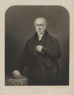 James Harington Evans, by Charles Wentworth Wass, after  George Lance - NPG D36593
