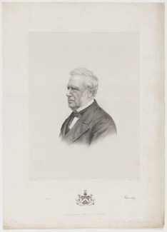 Charles Shaw-Lefevre, Viscount Eversley, by and published by Morris & Co, after  Charles William Walton - NPG D36600