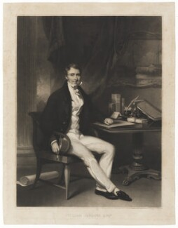 William Jardine, by Thomas Goff Lupton, published by  Leggatt & Co, after  George Chinnery - NPG D36485