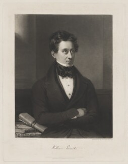 William Ewart, by Samuel William Reynolds, published by  Thomas Agnew, and published by  Henry Lacey, after  Edward Villiers Rippingille - NPG D36615