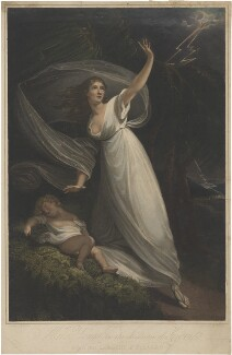 Mrs Young in the character of Cora from the tragedy of Pizarro, by William Armfield Hobday, after  William Bond - NPG D36271