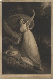 Mrs Young in the character of Cora from the tragedy of Pizarro, by William Armfield Hobday, after  William Bond - NPG D36272