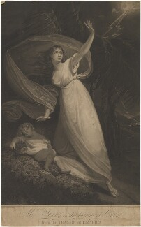 Mrs Young in the character of Cora from the tragedy of Pizarro, by William Armfield Hobday, after  William Bond - NPG D36273