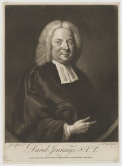 David Jennings, by James Macardell, published by  Carington Bowles, after  W. Jones - NPG D36505