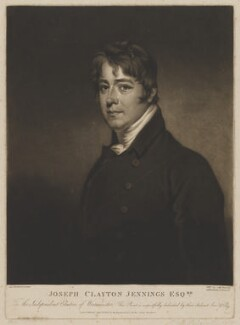 Joseph Clayton Jennings (later Jennyns), by and published by William Say, after  Samuel Woodforde, published 10 September 1807 - NPG D36506 - © National Portrait Gallery, London