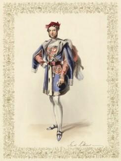 Hon. Frederick William Child-Villiers as Guy de la Motte, by Unknown artist - NPG D36514