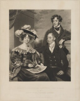 Harriot Dundas (née Hale), Countess of Zetland; Lawrence Dundas, 1st Earl of Zetland; John Charles Dundas, by Charles Turner, published by  Charles Turner, after  Charles William Pegler - NPG D36278