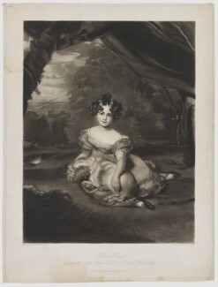 Julia Child-Villiers (née Peel), Countess of Jersey, by Samuel Cousins, published by  Moon, Boys & Graves, after  Sir Thomas Lawrence - NPG D36516