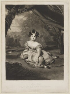 Julia Child-Villiers (née Peel), Countess of Jersey, by Samuel Cousins, published by  Moon, Boys & Graves, after  Sir Thomas Lawrence - NPG D36517