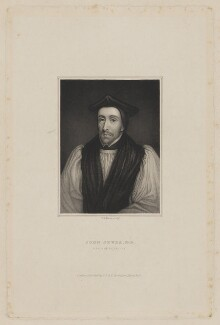 John Jewel, by Thomas Anthony Dean, published by  John Rivington, published by  George Rivington, published by  Francis Rivington, after  George Vertue - NPG D36520
