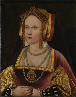 Katherine of Aragon, by Unknown artist, circa 1520 - NPG  - By permission of the Archbishop of Canterbury and the Church Commissioners; on loan to the National Portrait Gallery, London