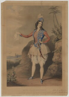 Miss Fairbrother as Abdallah in The Forty-Thieves (Louisa Fairbrother ('Mrs FitzGeorge')), by John Brandard, published by  Messrs Fores, published by  Goupil & Vibert, after  James Warren Childe - NPG D36631