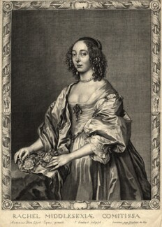 Rachael Cranfield (née Fane), Countess of Middlesex, by Pierre Lombart, after  Sir Anthony van Dyck - NPG D10952