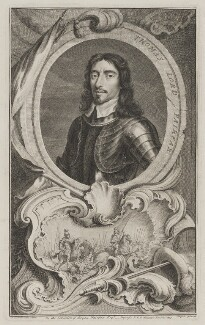 Thomas Fairfax, 3rd Lord Fairfax of Cameron, by Jacobus Houbraken, published by  John & Paul Knapton, after  Samuel Cooper - NPG D36634