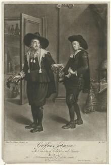 Benjamin Griffin as Tribulation; Benjamin ('Ben') Johnson as Ananias in Ben Jonson's 'The Alchemist' Act III, Scene 2, by Peter van Bleeck - NPG D36530