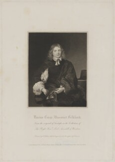 Unknown man engraved as Lucius Cary, 2nd Viscount Falkland, by Edward Scriven, published by  Lackington, Hughes, Harding, Mavor & Jones, and published by  Longman, Hurst, Rees, Orme & Brown, after  William Hilton, after  Unknown artist - NPG D36638