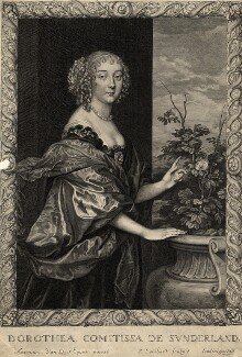 Dorothy Spencer (née Sidney), Countess of Sunderland, by Pierre Lombart, after  Sir Anthony van Dyck, mid 17th century - NPG D10951 - © National Portrait Gallery, London