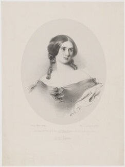 Mary Julia Fellowes (née Milles), Lady de Ramsey, by Richard James Lane, printed by  M & N Hanhart, published by  Henry Graves & Co, and published by  John Gilman, after  Frederick Newenham - NPG D36642