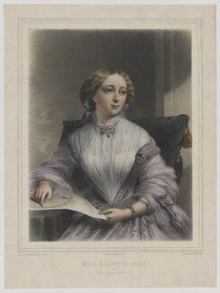 Miss Blanche Fane as The Little Treasure, by Alphonse Léon Noël, printed by  Lemercier, published by  Henry Graves & Co, after  James Edgell Collins, published 1856 - NPG D36644 - © National Portrait Gallery, London