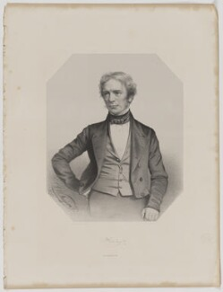 Michael Faraday, by Thomas Herbert Maguire, printed by  M & N Hanhart - NPG D36647