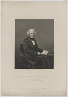 Michael Faraday, by Daniel John Pound, published by  The London Joint Stock Newspaper Company, after  John Jabez Edwin Mayall - NPG D36648