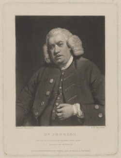 Samuel Johnson, by Samuel William Reynolds, published by  Hodgson, Boys & Graves, after  Sir Joshua Reynolds - NPG D36535