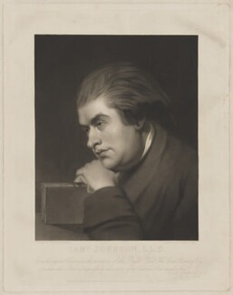 Samuel Johnson, by George Zobel, published by  Paul and Dominic Colnaghi & Co, published by  Robert Roe, possibly after  Sir Joshua Reynolds - NPG D36538