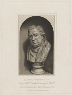 Samuel Johnson, by William Thomas Fry, published by and after  Abraham Wivell, after  Joseph Nollekens - NPG D36539