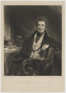 James William Farrer, by David Lucas, published by  James Anthony Molteno, after  John Partridge - NPG D36664