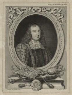 Francis North, 1st Baron Guilford, by George Vertue, after  David Loggan - NPG D36708