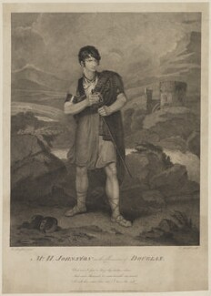 Henry Erskine Johnston in the Character of Douglas, by Edward Mitchell, published by  John Peter Thompson, after  Henry Singleton - NPG D36547
