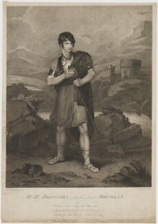 Henry Erskine Johnston in the Character of Douglas, by Edward Mitchell, published by  John Peter Thompson, after  Henry Singleton - NPG D36548