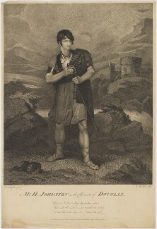 Henry Erskine Johnston in the Character of Douglas, by Edward Mitchell, published by  John Peter Thompson, after  Henry Singleton - NPG D36549