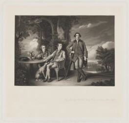 Inigo Jones; Hon. Henry Fane; Charles Blair, by James Scott, after  Sir Joshua Reynolds - NPG D36715