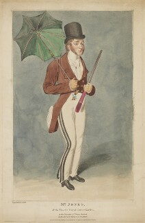 Richard Jones as Young Contrast in John Burgoyne's 'The Lord of the Manor', by Samuel De Wilde, published by  John Cawthorn - NPG D36724