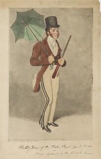 Richard Jones as Young Contrast in John Burgoyne's 'The Lord of the Manor', by Samuel De Wilde - NPG D36726
