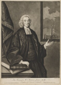 Thomas Jones, by Richard Houston, published by  Carington Bowles, after  M. Jenkin - NPG D36727