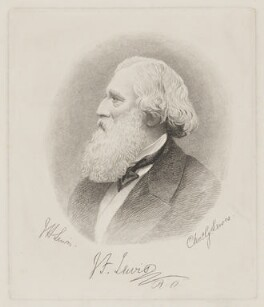 John Frederick Lewis, by Charles George Lewis, after  John Hardwicke Lewis - NPG D36909