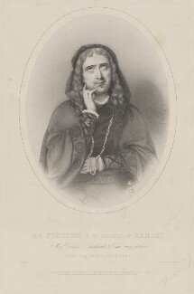 Charles Albert Fechter in the character of Hamlet, by Richard James Lane, printed by  M & N Hanhart, published by  John Mitchell - NPG D36678
