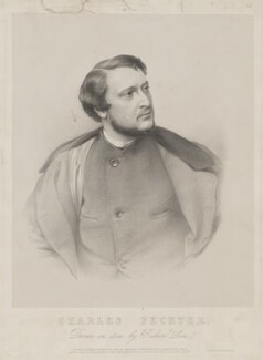 Charles Albert Fechter, by Richard James Lane, printed by  M & N Hanhart, published by  John Mitchell - NPG D36680