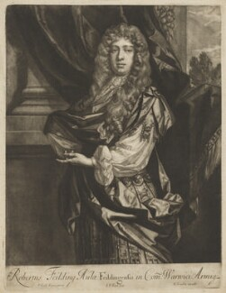 Robert ('Beau') Feilding, by Jan van der Vaart, published by  Richard Tompson, after  Sir Peter Lely - NPG D36681