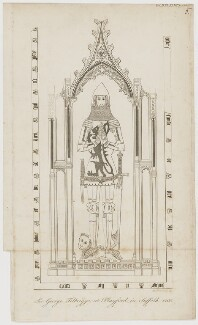 Monument of Sir George Felbrigge, after Jacob Schnebbelie, early 19th century - NPG D36682 - © National Portrait Gallery, London