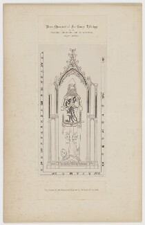 Brass Monument of Sir George Felbrigge in the Parish Church of Playford, County Suffolk, printed by Lock & Whitfield, after  Jacob Schnebbelie - NPG D36683