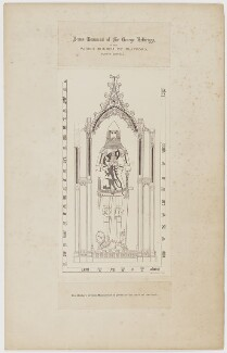 Brass Monument of Sir George Felbrigge in the Parish Church of Playford, County Suffolk, printed by Lock & Whitfield, after  Jacob Schnebbelie, 1877 - NPG D36684 - © National Portrait Gallery, London