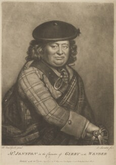 Alexander Jonston as Gibby in 'The Wonder', by Joseph Saunders, published by  Henry Bryer, after  Benjamin Vandergucht - NPG D36740