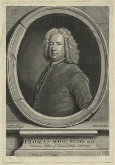 Thomas Woolston, by John Vandergucht, after  Bartholomew Dandridge - NPG D36290