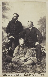 Albert Basil Orme Wilberforce with three unknown men, by Unknown photographer - NPG Ax10050